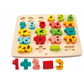 Számok Formaillesztő puzzle - Hape