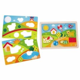 Napos völgy bébi puzzle - 3 az 1-ben  - Hape