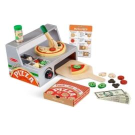 Melissa & Doug - Szerepjáték: Pizzasütő készlet fából