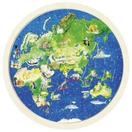 Föld 57 db-os fa puzzle - Goki