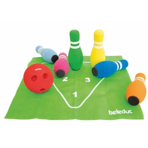 Bowling játék szivacs bábukkal - Beleduc