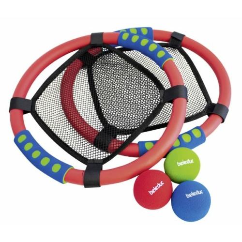 Labdatrambulin szivacsos kerettel, műanyag hálóval - Beleduc