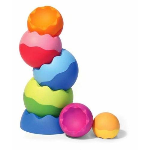 Színes dínótojás építő - Fat Brain Toys
