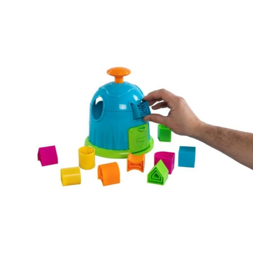 Trükkös formaillesztő házikó - Fat Brain Toys