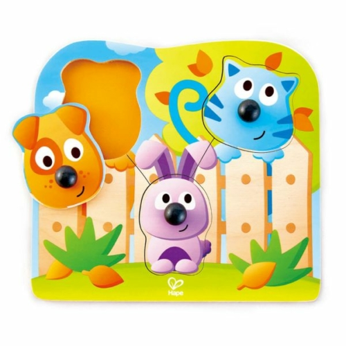 Hape - Fogantyús puzzle - Bébi állatok