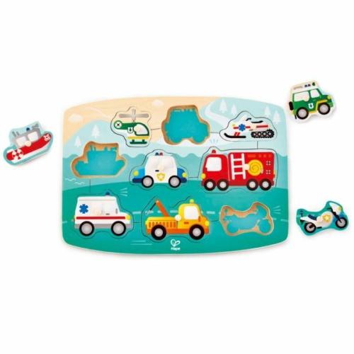 Hape - Fogantyús puzzle - Járművek