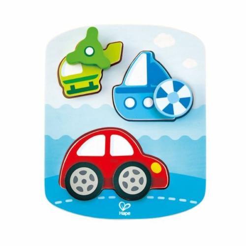 Hape - Forgatós puzzle - Járművek