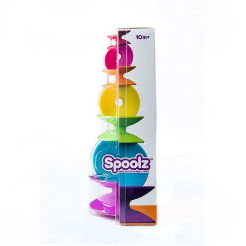 Színes orsós építő - Spoolz - Fat Brain Toys