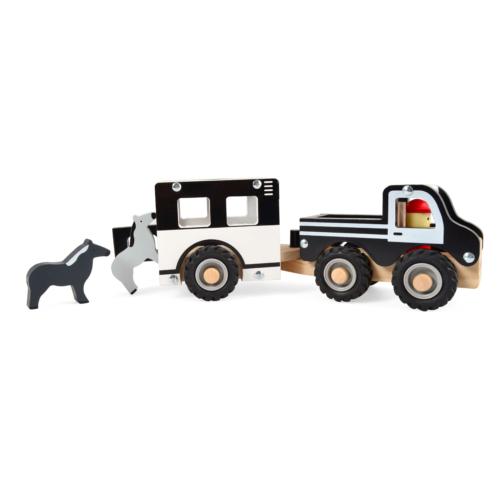 Fa lószállító autó lovakkal - Magni