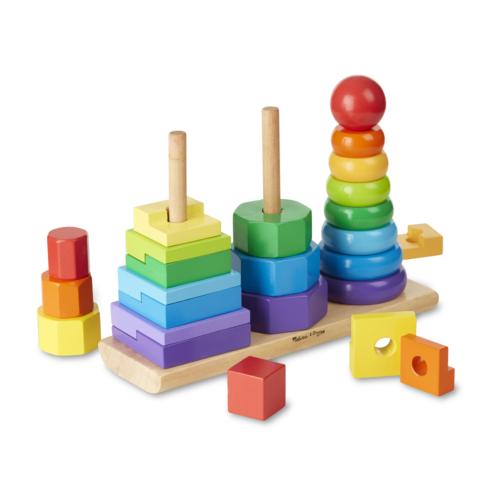 Melissa & Doug: Montessori toronyépítő (fa)