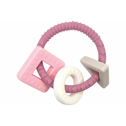 Rágóka passztell pink/szürke - Magni