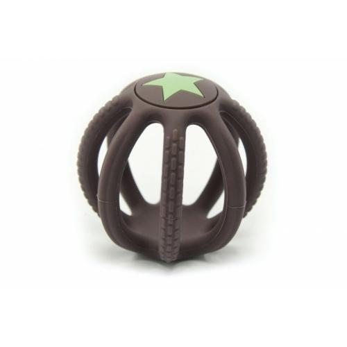 Fejlesztő szilikon labda barna - Magni