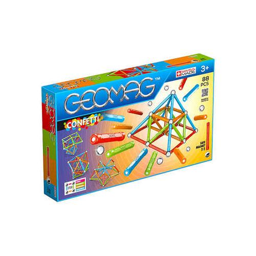 Geomag Confetti - Színes mágneses építőjáték szett 88 db-os