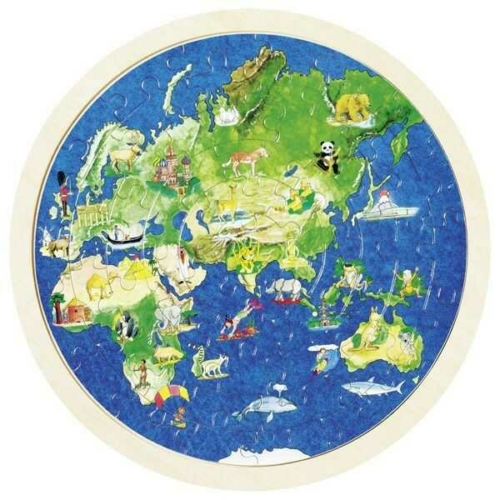 Goki - Föld 57 db-os fa puzzle