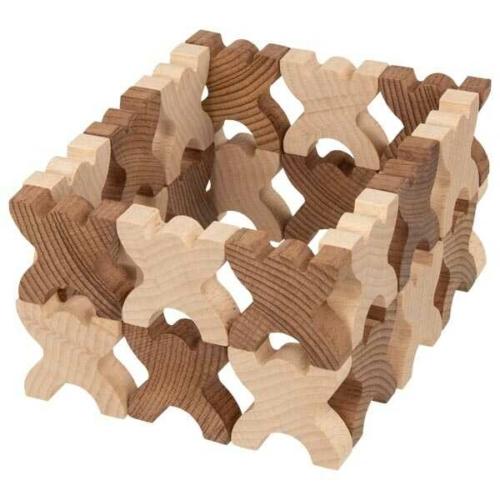 X-Shaped Men figurás építő fából - Goki