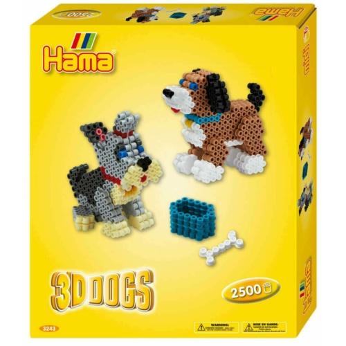 Ajándékdoboz - 3D Kutya (Hama Midi Gyöngy)