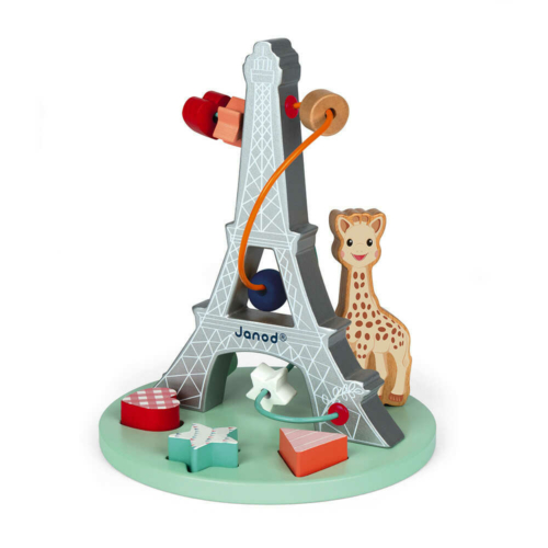 Eiffel torony ügyességi játék (Sophie-val a zsiráffal) - Janod 09504