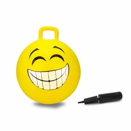 Felfújható ugráló smile labda, sárga - Jamara