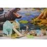 Kép 2/2 - Fedezd fel a Szafarit! - Fa fejlesztő játék állatfigurákkal és autópályával- - Jabadabado